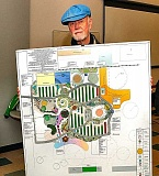 DAVID F. ASHTON - Peter Jacobsen shows the layout for a new Annex to the Master Gardners Demonstration Garden at the Learning Gardens Laboratory, across the street from Lane Middle School.
