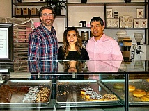 RITA A. LEONARD - The owners of the new Coco Donuts shop - now open seven days a week at the south end of the Brooklyn neighborhood on S.E. Milwaukie Avenue - are Ian Christopher, Tevy Hul, and Prak Khou.
