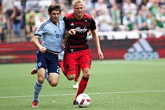 TRIBUNE FILE PHOTO - At left back, Vytas (right) has been right on for the Portland Timbers during preseason play.