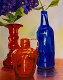 CONTRIBUTED PHOTO - Carolyn Wagler's 'Red and Blue' is one of the works at Gresham Art Committee's 'Red Show'
