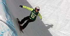 SUBMITTED PHOTO - West Linn senior Olivia Swofford notched a third-place finish in Fridays Three Rivers League snowboarding competition at Mt. Hood.