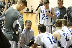 REVIEW/NEWS PHOTO: JIM BESEDA - North Clackamas Christian coach Grant Nelson has the Saints of Oregon City back in the OSAA Class 1A boys' basketball round of 16 for the first time in five seasons.