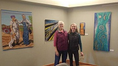 SUBMITTED PHOTO - Terry Olson, left, and Lisa Brinkman are exhibiting their art at West Linn Lutheran Churchs Creative Space Gallery through March.