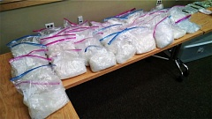 KOIN PHOTO - Deputies seized $2 million in meth Wednesday night during Multnomah County Sheriff's Office's biggest drug bust, February 22, 2017