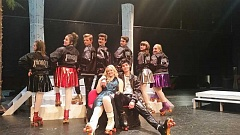 COURTESY PHOTO - Liberty High School's Peregrine Productions presents the disco-roller-skate-musical 'Xanadu.'
