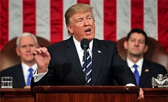 PHOTO COURTESY OF KOIN TV - President Trump spoke Tuesday night in the House chamber, before a joint session of Congress.