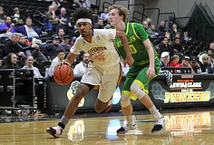 PMG PHOTO: MILES VANCE - Jefferson guard Marcus Tshonis and the top-ranked Democrats will play for a Class 6A state tournament berth tonight when they host Jesuit at 7 p.m.