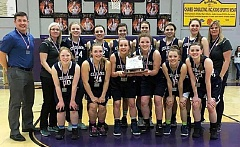 SUBMITTED PHOTO: LAURA WARRINGTON  - Country Christian took home the Class 1A second place plaque after making it to the finals for the third year in a row. The Cougars return every player from this year's roster as they have no seniors on the squad.