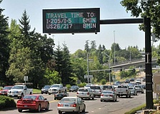 FILE PHOTO - An ODOT traffic sign.
