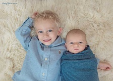 PHOTO COURTESY OF WES AND MARY BETH CAMPBELL - Calvin Campbell, almost 3, and Teddy Campbell, 8 months old, are about the same size now. Calvin has Bloom Syndrome and Teddy is a carrier. They will be attending nano-courses in Beaverton that focus on the rare disease.