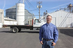 SUSAN MATHENY/MADRAS PIONEER - Dean Boyle is the new location manager of the Pratum Co-op facility in Madras.