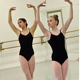 TIDINGS PHOTO: VERN UYETAKE - Elliana Kirk, left, and Kyra Yannotta, right, are two of the youngest members of The Portland Ballet's Career Track program.