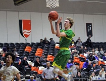 TIDINGS PHOTO: MILES VANCE - West Linn junior guard Jalen Thompson and the Lions are hoping to fly high for a fifth straight year at the Class 6A boys state basketball tournament.