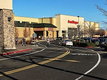 FILE PHOTO - A public plaza adjacent to the Wood Village Fred Meyer is just undifferentiated sidewalk to some shoppers.