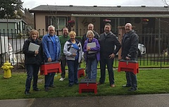 SUBMITTED PHOTO - Pictured from left are Jan Foley, Bruce Weaver, Scott Barbur, Ronda Butler, Craig VanVulkenberg, Wilda Parks, Joel Bergman and Clackamas Fire Division Chief Bill Conway.
