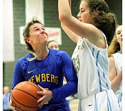 GRAPHIC FILE PHOTO - Newberg point guard Taylor Rarick was named to the All-Three Rivers League First Team for the third time in her career after averaging 18.9 points, 3.6 steals and 3.4 assists per game as a senior.