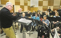 GARY ALLEN - The Newberg Community Band will perform 'Sounds of the Sea' at 2:30 p.m. Sunday in Bauman Auditorium on the campus of George Fox University. The band's performance will cover a variety of maritime tunes from sea shanties to John Philip Sousa's 'Hands Across the Sea' and songs from 'The Little Mermaid.' The band, under the direction of GFU professor Dick Elliott, continued practices last week in the Ross Center at the Newberg school.