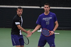 COURTESY: KYLE TERADA - PORTLAND PILOTS DOUBLES TEAM -- MATHIEU GARCIA (LEFT) AND MIKHAIL PERVOLARAKIS