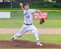 HILLSBORO TRIBUNE PHOTO: CHASE ALLGOOD - Century's Kyle Chimienti throws a pitch during a game last season. The Jaguars have hopes of competing for a Metro League title in 2017.