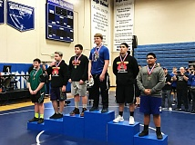 PHOTO COURTESY: BRANDEN BAILEY - Cutter Sandstrom, a Scappoose eighth-grader, wrestled to second in the state at 220 pounds over the last two weekends at Woodburn High School.