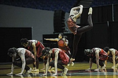 OUTLOOK PHOTO: JOSH KULLA - Gresham High School's dance team, the Rhythmettes, take part last Thursday in the OSAA State Dance and Drill Championships at Veteran's Memorial Coliseum in Portland.