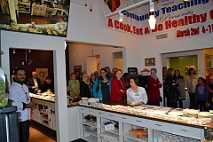 SUBMITTED PHOTO - A recent one-year anniversary celebration drew around 100 people to Providence Milwaukie Hospital's Community Teaching Kitchen and raised awareness of the service for the community.
