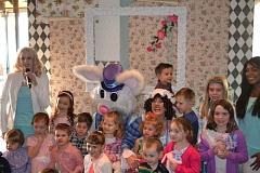 COURTESY OF CENTERCAL PROPERTIES - Children get their picture taken with the Easter Bunny and Mother Goose at last year's Breakfast with the Easter Bunny event at Bridgeport Village.