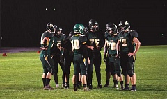 PIONEER FILE PHOTO - Colton Vikings in a huddle -- on Wednesday evening the athletes will hold a fundraiser to purchase new shoulder pads