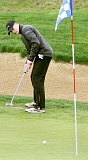 SUBMITTED - Junior Jacob Wilcutts putts from off the green Monday at Chehalem Glenn Golf Course. Wilcutts shot a 95 as Newberg placed seventh (391) at the first Three Rivers League meet of the year.