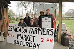 FILE PHOTO - The Estacada Farmers Market will run May to September, outside of the Wade Creek House at  664 N.W. Wade St.