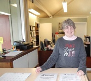 REGAL COURIER PHOTO: BARBARA SHERMAN - After finding retirement boring, Joy Olmstead went to work at the King City Pro Shop nine months ago and was promoted to manager Feb. 1.
