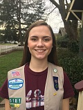 SUBMITTED PHOTO - Girl Scout Megan Kuhn, a senior at Gladstone High, organized a school wide assembly on distracted driving. The project was part of work to earn her Gold Award, the highest honor in Girl Scouts.