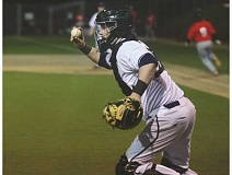 SPOKESMAN FILE PHOTO: COREY BUCHANAN - Wilsonville catcher Dominic Enbody received Northwest Oregon Conference Player of the Year honors last year.