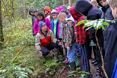 CONTRIBUTED PHOTO - Naas Elementary students took a field trip to the Clackamas River on Feb. 28 to release their fishy friends.