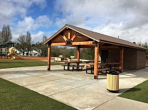 COURTESY OF CITY OF SHERWOOD - One of the new features of the remodeled Woodhaven Park is a picnic shelter.
