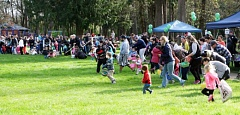 COURTESY OF THE CITY OF TUALATIN - The egg hunt begins last year at Cook Park in Tigard.