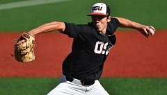 COURTESY: SCOBEL WIGGINS - Luke Heimlich has been part of a strong pitching staff for Oregon State this season, but it was hitting that helped the Beavers sweep Arizona.