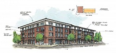 FILE PHOTO - THe Dahlia, a planned downtown mixed-use facility for downtown Canby.