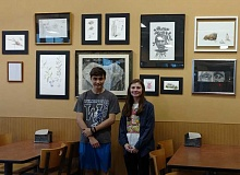 SUBMITTED PHOTOS - Kristopher Wieland and Savannah Pina unveiled their joint-Fred Meyer art exhibit Tuesday, March 21.