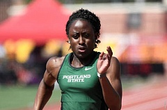 PHOTO COURTESY: PORTLAND STATE UNIVERSITY - Portland State senior sprinter Genna Settle was voted the Big Sky Conferences track & field Athlete of the Week after winning the 200-meter dash at the Willamette Invitational.