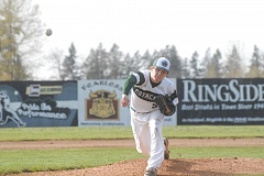 ESTACADA NEWS: MATT RAWLINGS - Andy Avants hurls a breaking ball to the plate in Estacada's 4-3 win over Banks on Monday