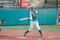 HILLSBORO TRIBUNE PHOTO: WADE EVANSON - Junior Ashley Bangerter swings at a pitch during Century's March 29 game at Hillsboro Stadium.