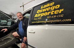 STAFF PHOTO: VERN UYETAKE - Tim Moss has owned Lake Oswego Airporter for the past 20 years.