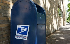KOIN 6 NEWS PHOTO - A United States Postal Service dropbox in downtown Portland.