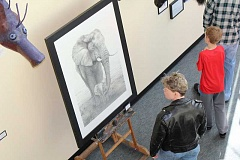 SUBMITTED PHOTO: JASMIN COLLINS - Students and community members alike joined together Saturday, April 8 to view various works of art created by West Linn-Wilsonville high school students.