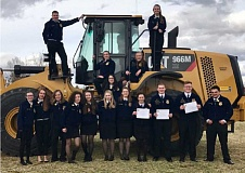 COURTESY PHOTO: TRICIA STODDARD - North Marion High School was represented at the state FFA convention by : (Back row, from left) Ben Netter, Rebecca Lettenmaier, Lilianna Santos, Mariah Porfily, Jane Orr, (front row, from left) Peyton Knight, Sophie Davenport, Mary Kaufman, Emily Hay, Emilee Heffner, Miranda Barrell, Kysa Miller, Alexis Knight, Greg Barrell, Sebastian Powers-Leach and RJ Magaña.